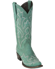Lane Women's Saratoga Western Boots - Square Toe, Turquoise, hi-res