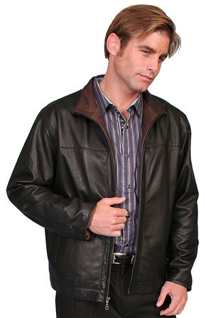 Scully Premium Lambskin Zip Front Jacket, Black, hi-res