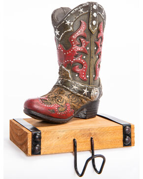BB Ranch Red Boot Stocking Hook, Red, hi-res