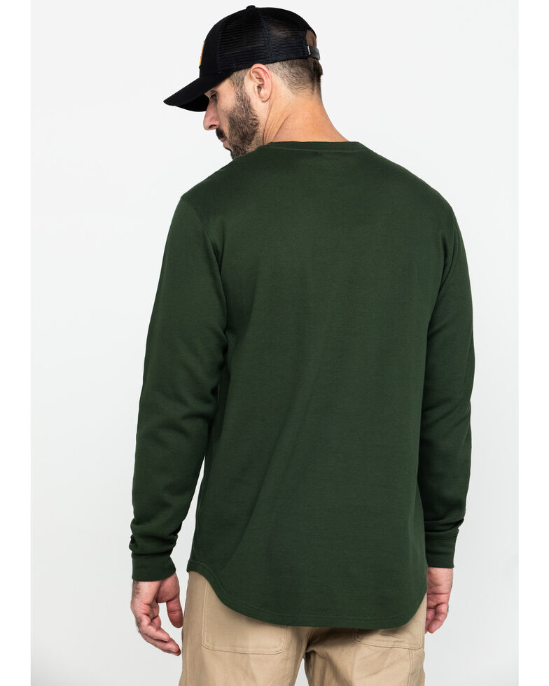 Hawx Men's Green Graphic Thermal Long Sleeve Work T-Shirt , Green, hi-res