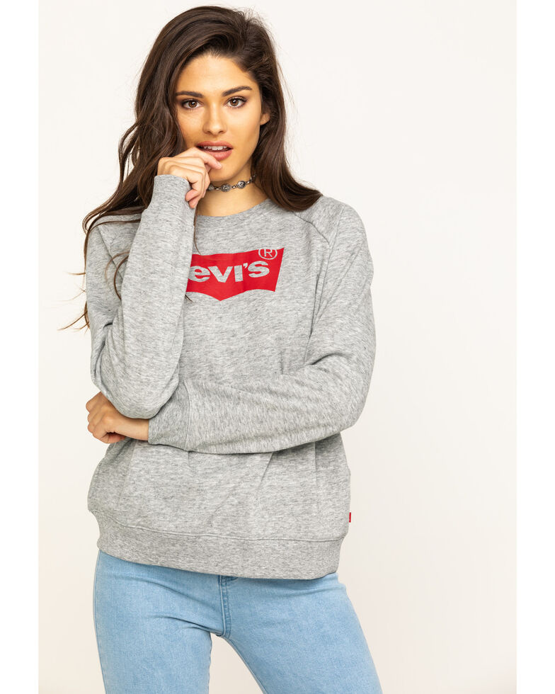Levi's Women's White Batwing Logo Sweatshirt, White, hi-res