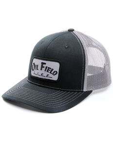 Oil Field Hats Men's Diesel OFL Patch Mesh Cap , Black, hi-res