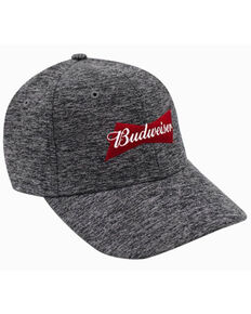 H Bar C Heather Grey Budweiser Cationic Logo Ball Cap  , Heather Grey, hi-res