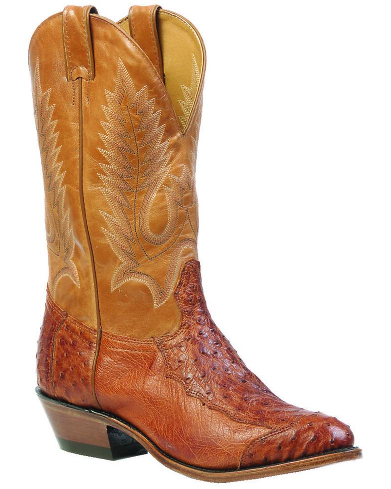 Boulet 4-Piece Smooth Ostrich Boots - Medium Toe, Brandy, hi-res