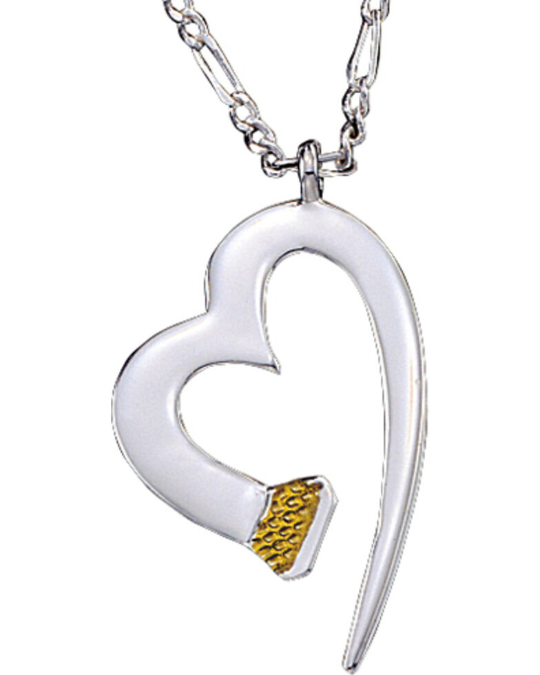 Montana Silversmiths Women's Hoofprint On My Heart Necklace, Multi, hi-res