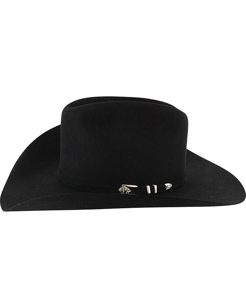 Stetson Men's Apache 4X Buffalo Felt Cowboy Hat, Black, hi-res