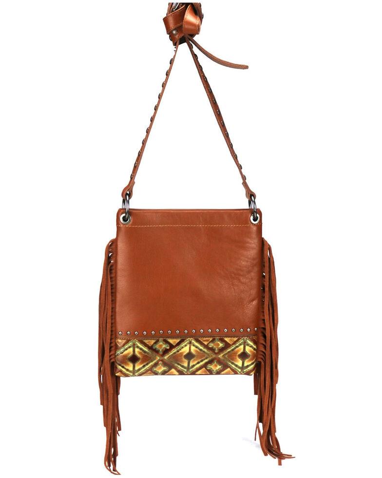 Montana West Women's Embossed Aztec Crossbody Bag, Brown, hi-res