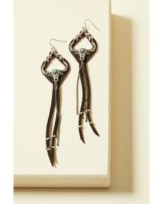 Cowgirl Confetti Women's Ride or Die Earrings, Brown, hi-res