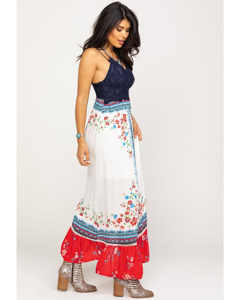 Coco + Jaimeson Women's Americana Border Maxi Dress, Red/white/blue, hi-res
