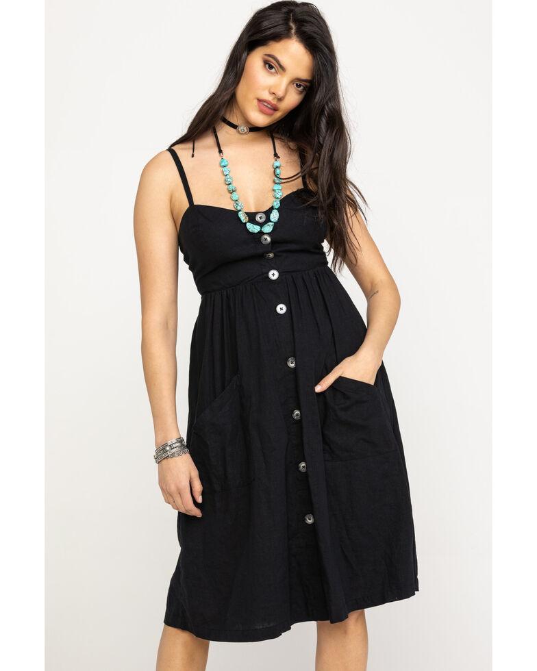 Black Swan Women's Teagan Button Dress , Black, hi-res