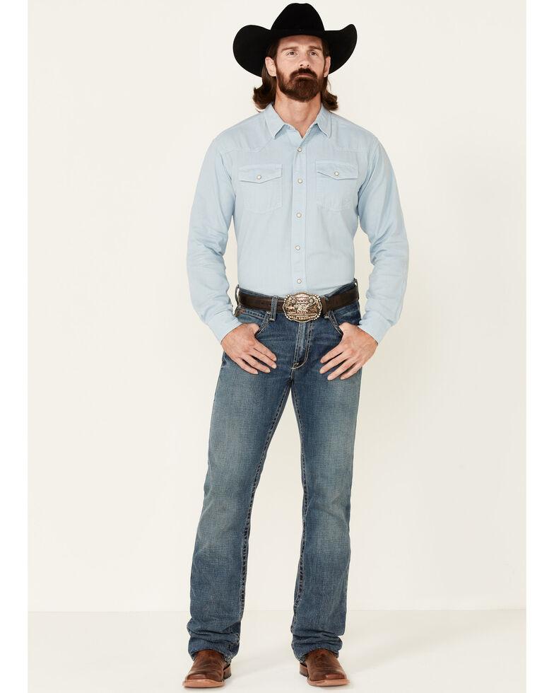 Ariat Men's Solid Light Blue Jurlington Long Sleeve Snap Western Shirt , Blue, hi-res