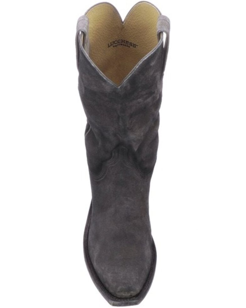 Lucchese Men's Livingston Frontier Suede Western Boots - Narrow Square Toe, , hi-res