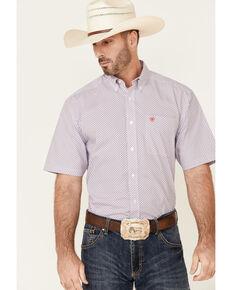 Ariat Men's Blade Chevron Print Short Sleeve Button-Front Western Shirt , Multi, hi-res