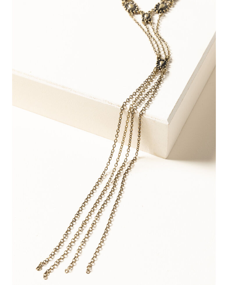 Shyanne Women's Gilded Gold Layered Y Necklace, Gold, hi-res