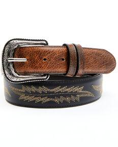 Cody James Men's Two-Tone Brown Buck Western Belt, Black/brown, hi-res