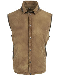 STS Ranchwear Men's Brown Yellowstone Vest , Lt Brown, hi-res