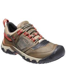 Keen Men's Ketchup & Timberwolf Ridge Flex Waterproof Lace-Up Hiking Shoe , Brown, hi-res