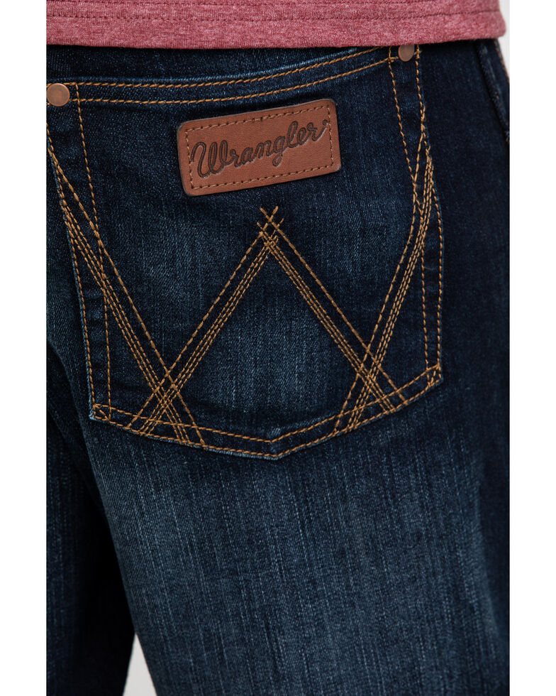 Wrangler Retro Men's Lavon Dark Stretch Relaxed Boot Jeans , Indigo, hi-res