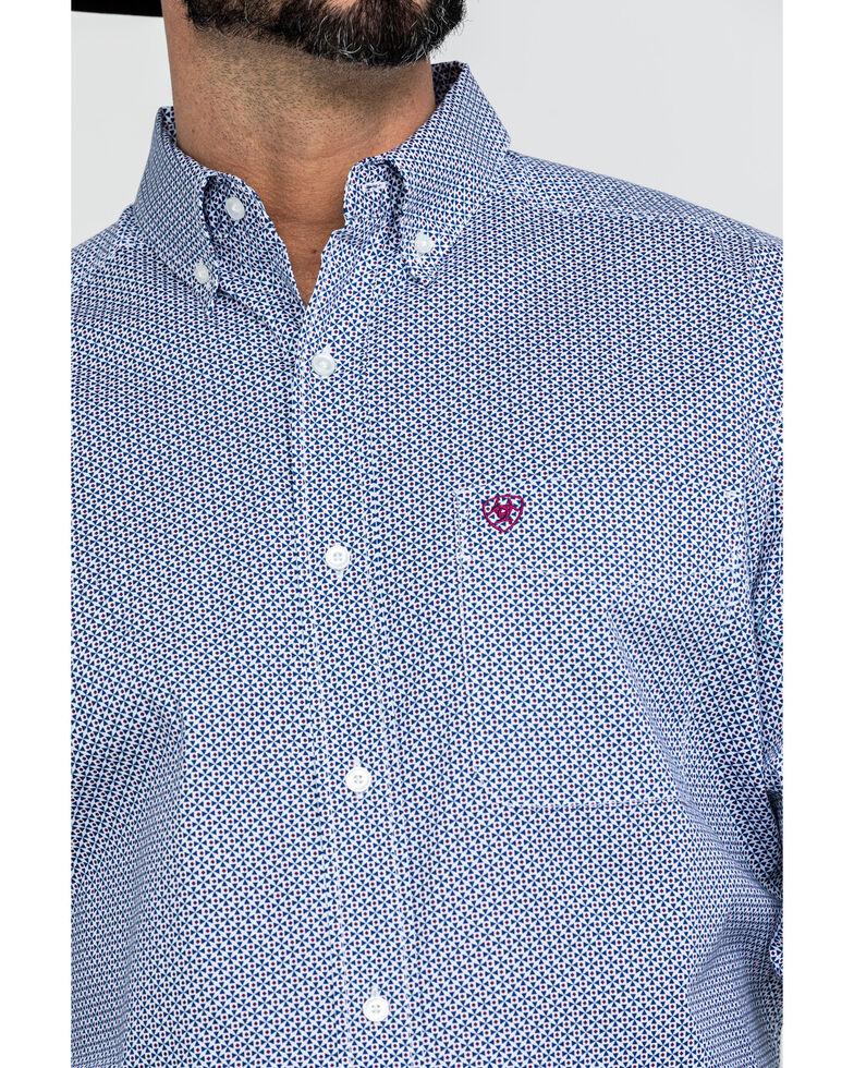 Ariat Men's Airington Stretch Geo Print Long Sleeve Western Shirt - Big , White, hi-res