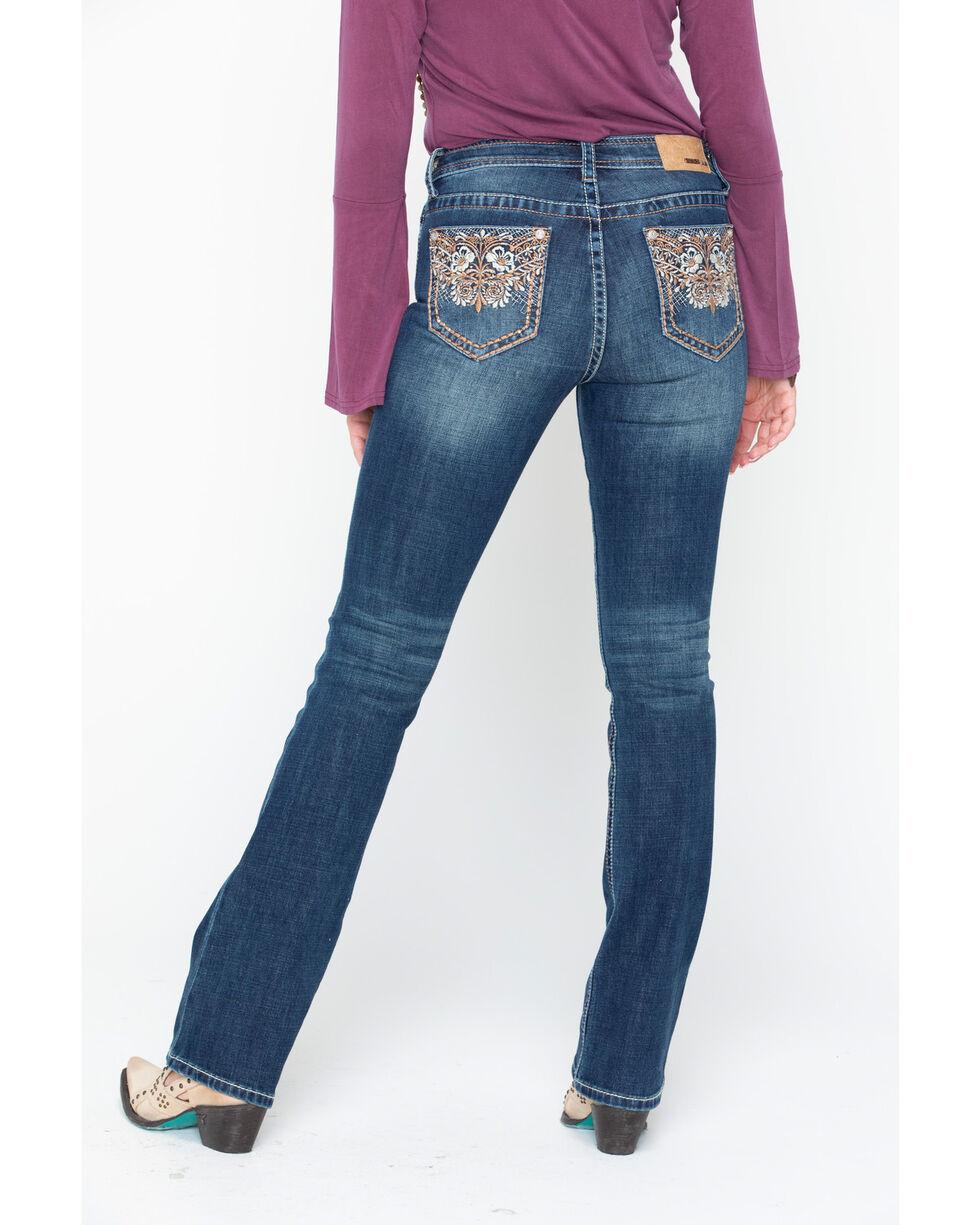 Grace In LA Women's Grace Heavy Embroidered Pocket Jeans , Indigo, hi-res