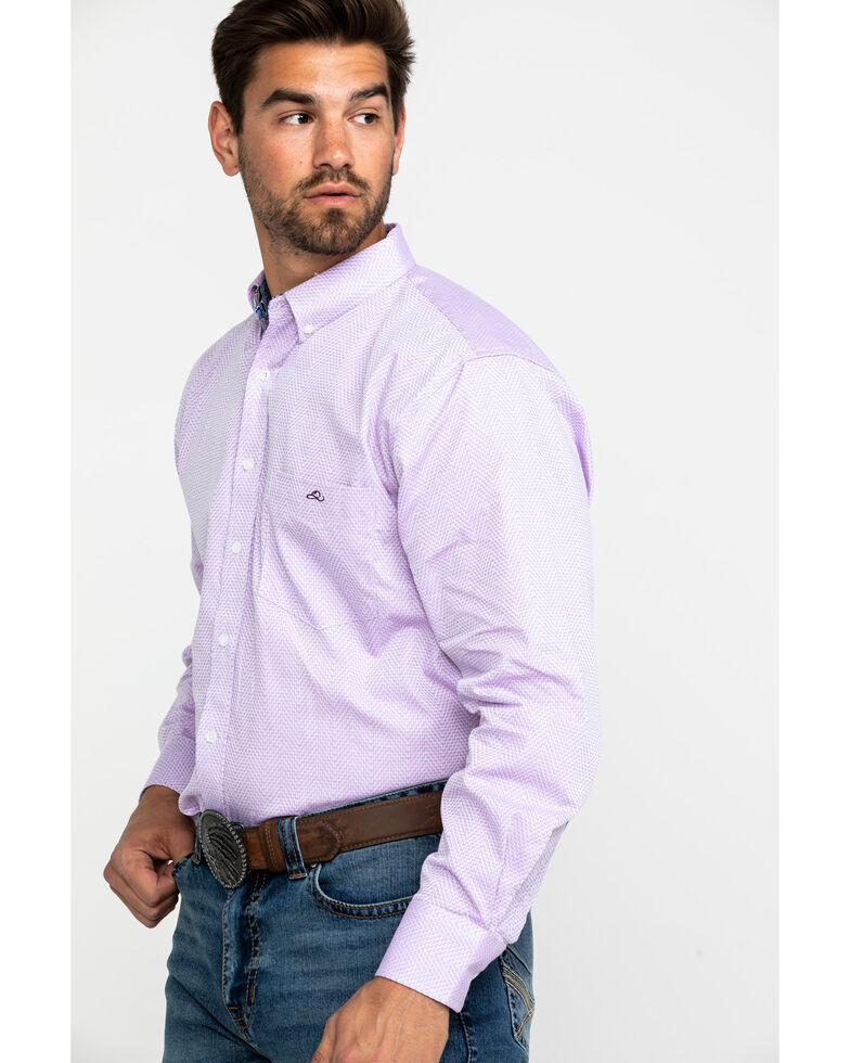 Resistol Men's Oakley Aztec Print Long Sleeve Western Shirt , Purple, hi-res