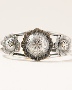 Broken Arrow Women's Concho Cuff, Silver, hi-res