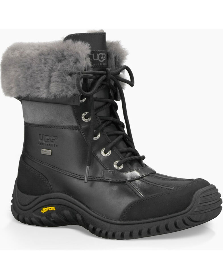 UGG Women's Black Adirondack II Winter Boots - Round Toe , Grey, hi-res