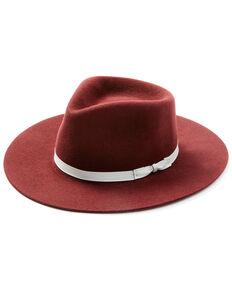 Shyanne Women's Plum Wide Ribbon Wool Felt Western Hat , Purple, hi-res