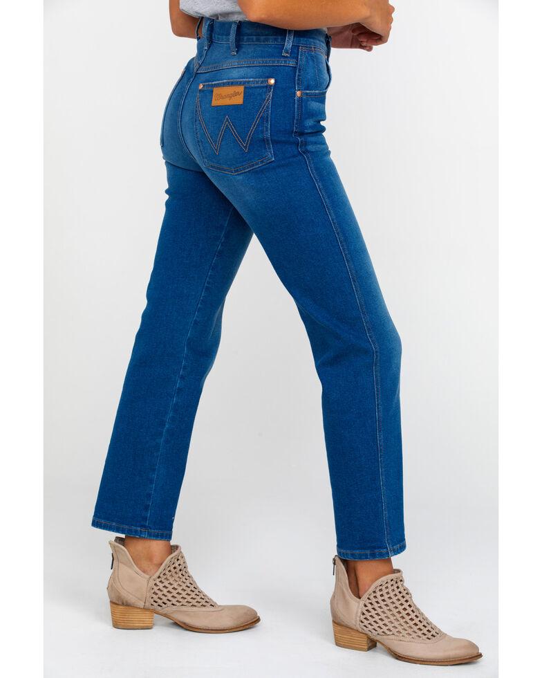 Wrangler Women's Blue Lagoon High Rise Heritage Jeans , Blue, hi-res