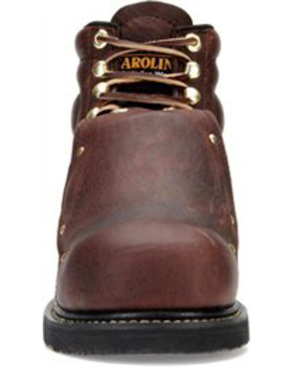 Carolina Men's Brown Domestic External MetGuard Boots - Round Toe, Brown, hi-res