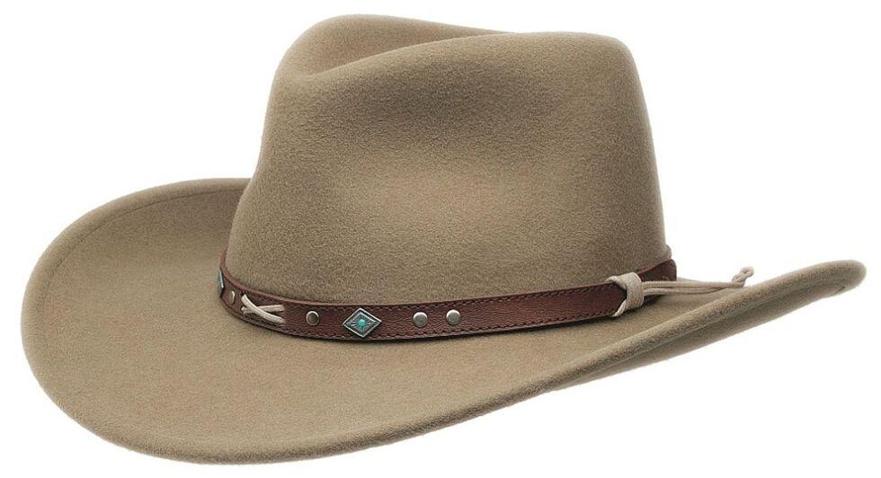 Black Creek Crushable Wool Felt Hat, Putty, hi-res