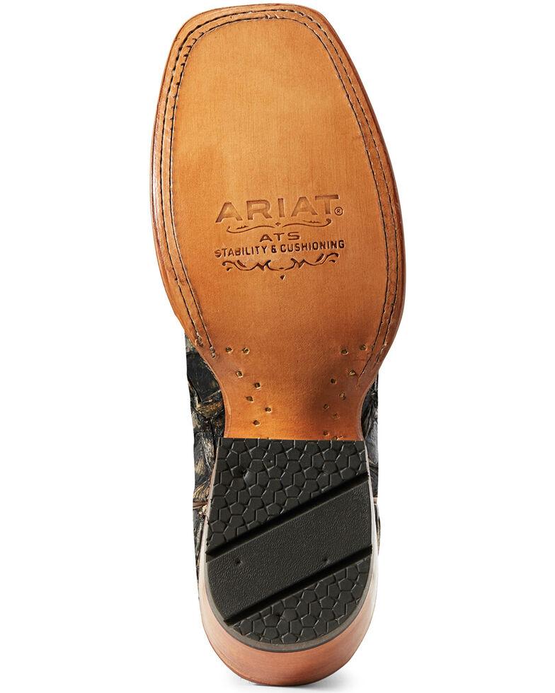 Ariat Women's Derby Exotic Pirarucu Western Boot - Wide Square , Brown, hi-res