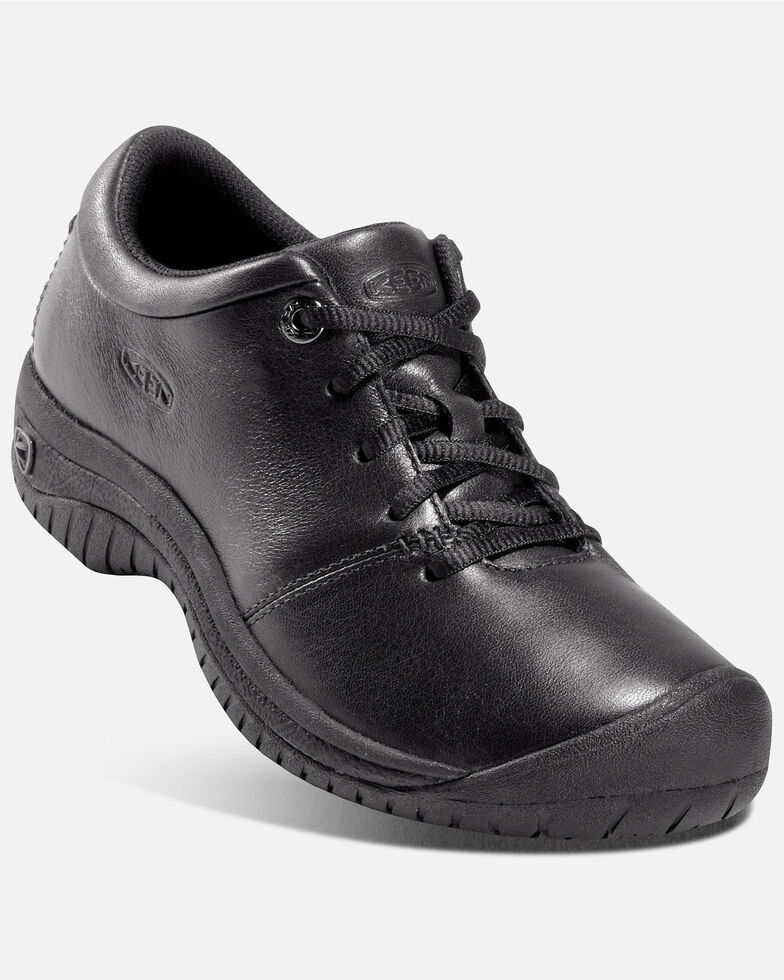 Keen Women's PTC Oxford Work Shoes - Round Toe, Black, hi-res
