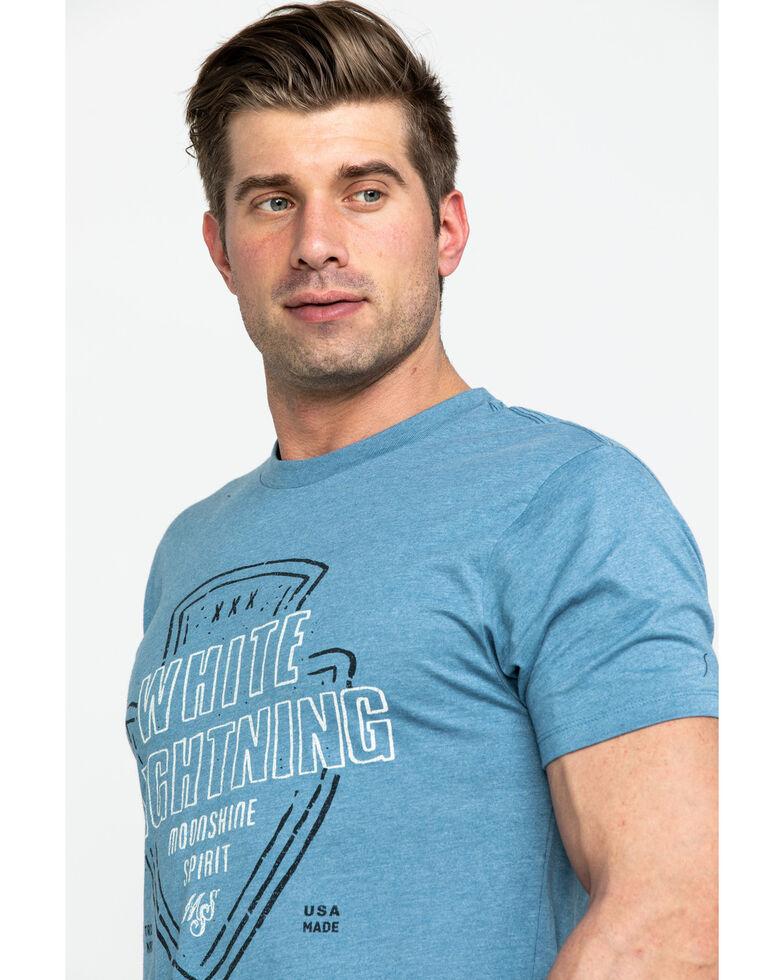 Moonshine Spirit Men's White Lightning Arrowhead Graphic T-Shirt , Blue, hi-res