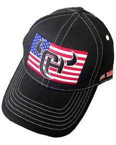 Cowboy Hardware Men's Solid Black CH Flag Patch Ball Cap , Black, hi-res