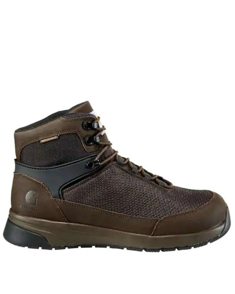 Carhartt Men's Force Waterproof Work Boots - Composite Toe, Dark Brown, hi-res