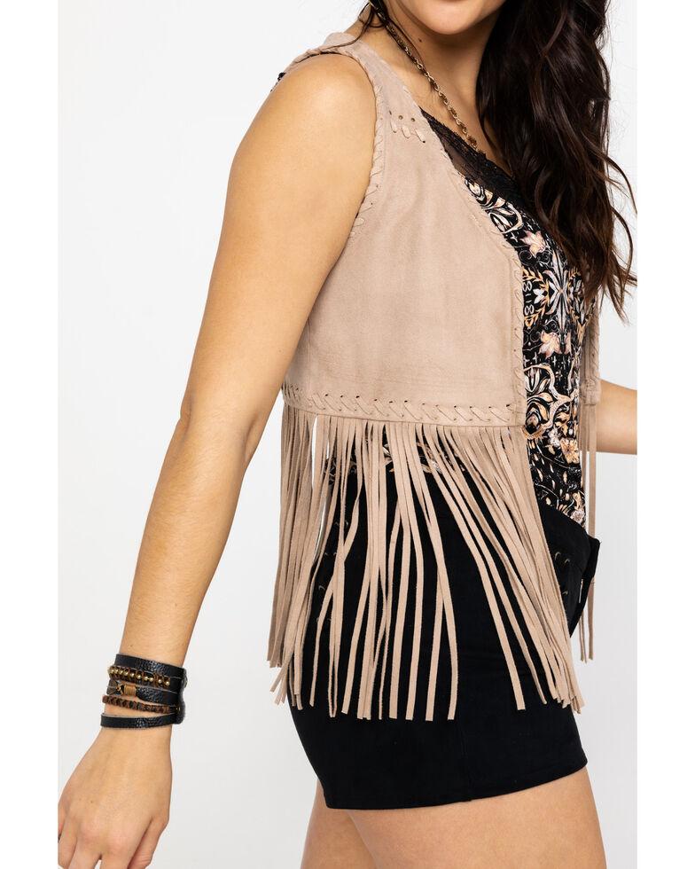 Idyllwind Women's New Strings Fringe Vest, Stone, hi-res