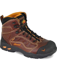 Thorogood Men's VGS-300/ASR/SD Sport Hiker Boots - Composite Toe, Brown, hi-res