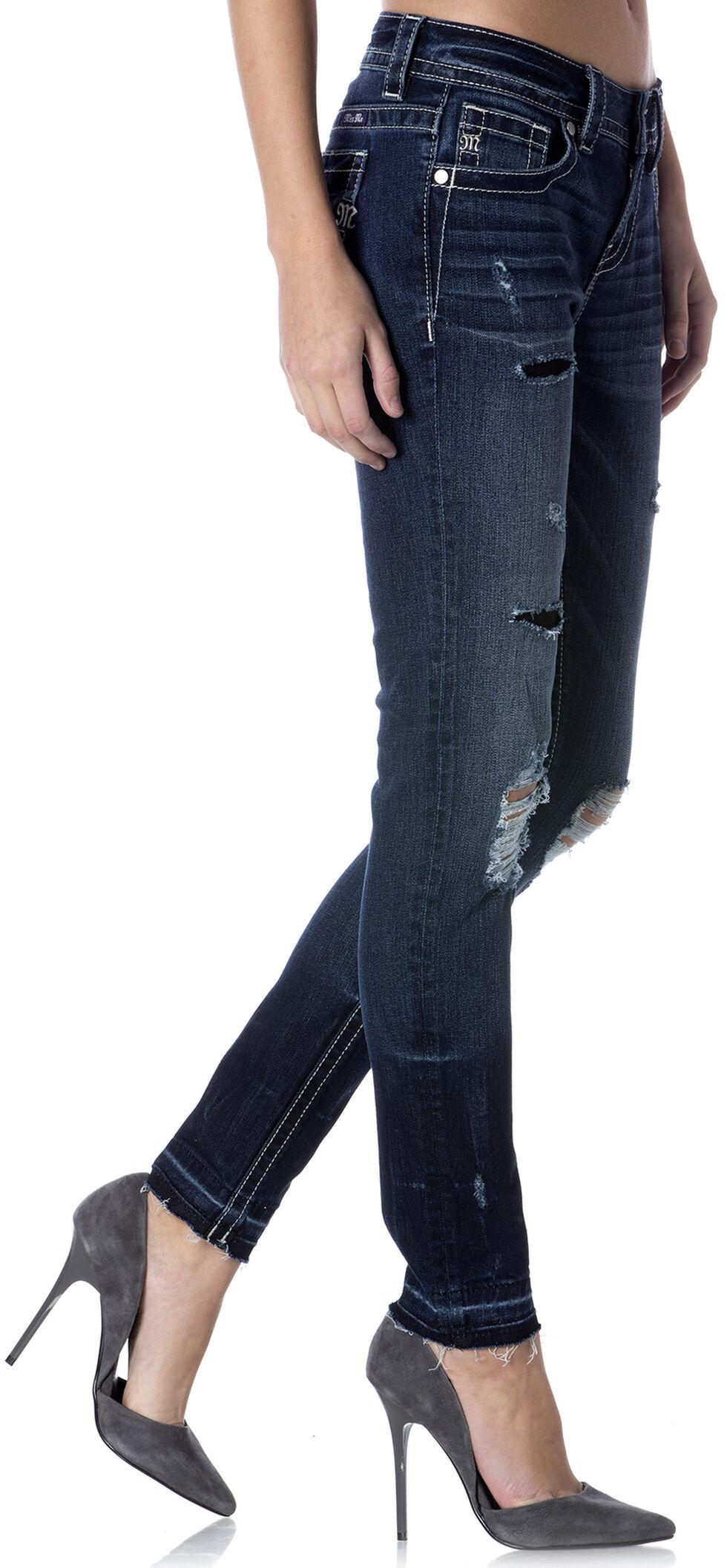 Miss Me Release Hem Destructed Skinny Jeans , , hi-res