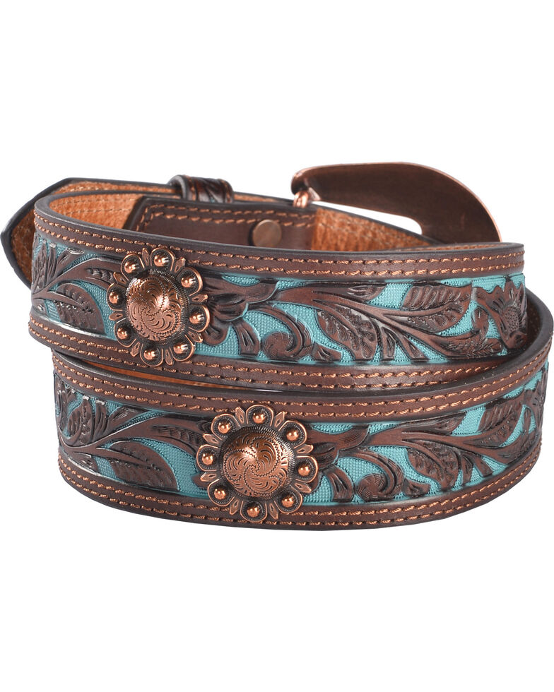 Shyanne Women's Turquoise Inlay Concho Belt, , hi-res