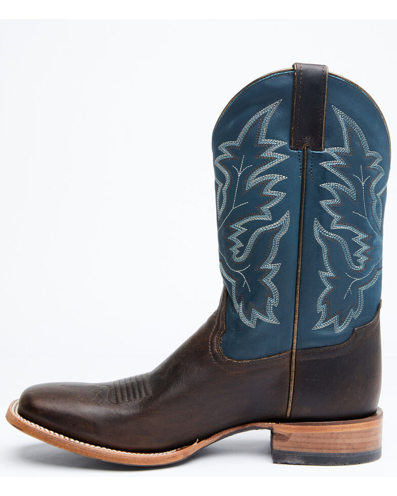 Cody James Men's Remmel Western Boots - Wide Square Toe, Dark Brown, hi-res