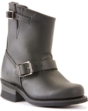 Frye Women's Engineer 8R Boots - Round Toe, Black, hi-res