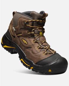 Keen Men's Braddock Waterproof Work Boots - Soft Toe, Brown, hi-res