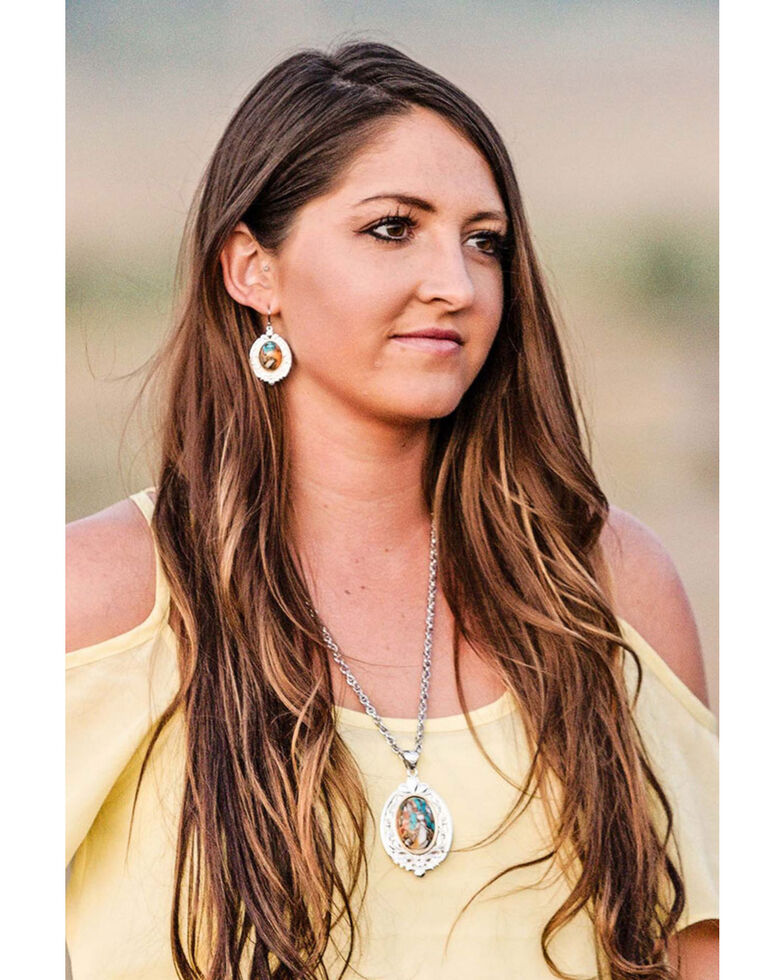 Montana Silversmiths Women's Sweet Memories Mountain Glacier Turquoise Necklace, Turquoise, hi-res