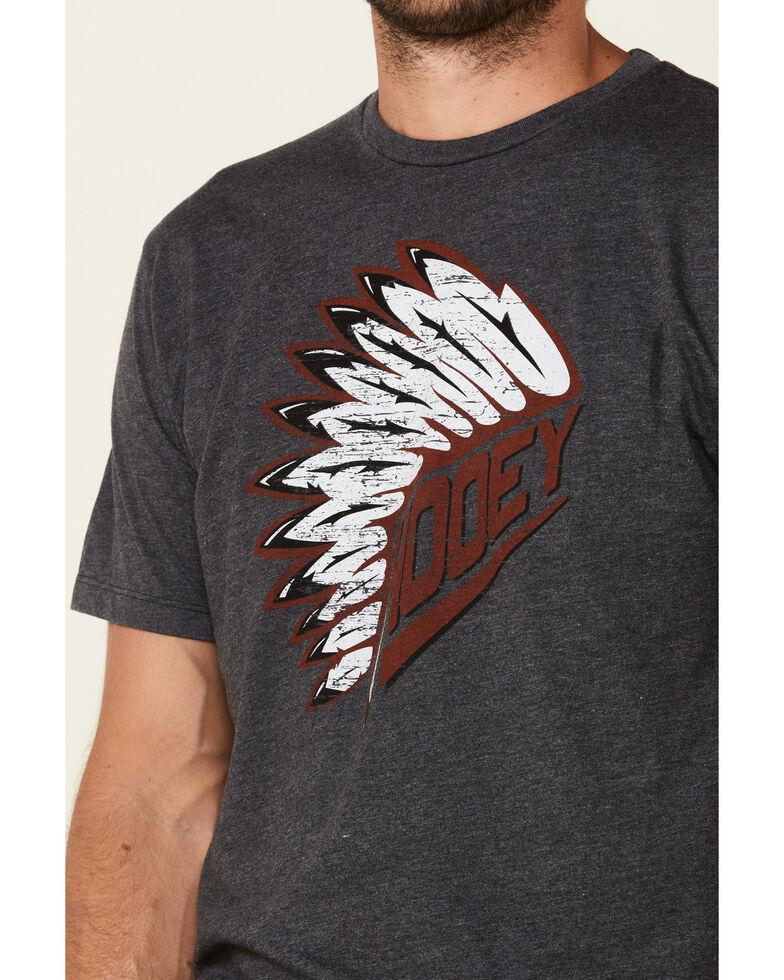 Hooey Men's Headdress Graphic T-Shirt Heather Grey, Heather Grey, hi-res