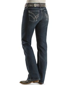 Wrangler Women's Absolute Star Ultimate Riding Q-Baby Jeans , Denim, hi-res