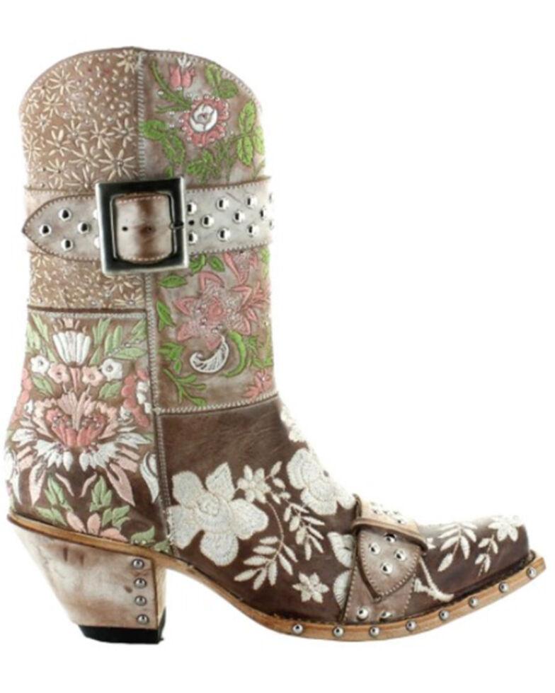 Old Gringo Women's Dust Bowl Blues Fashion Booties - Snip Toe, Brown, hi-res