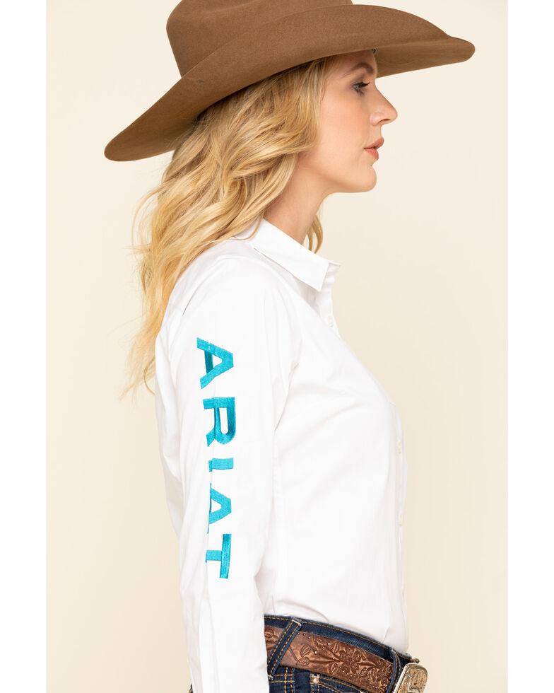 Ariat Women's White Team Kirby Stretch Long Sleeve Shirt, White, hi-res