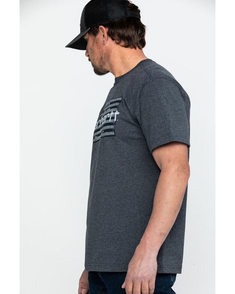 Carhartt Men's Craftsmanship Flag Graphic Work T-Shirt - Big, Charcoal, hi-res