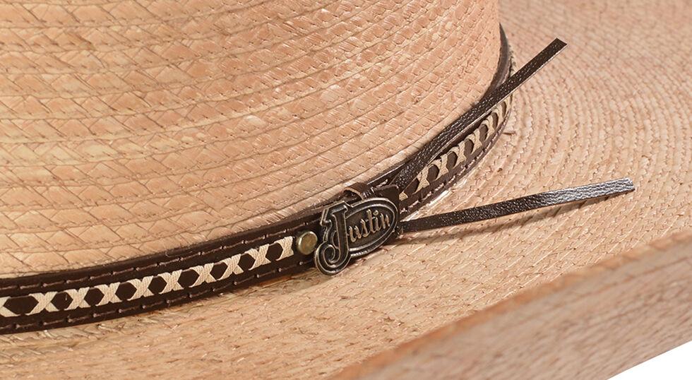 Justin Bent Rail Gunslinger Copper Straw Cowboy Hat , Copper, hi-res